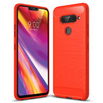 Flexi Carbon Fibre Tough Case for LG V40 ThinQ (Brushed Red)